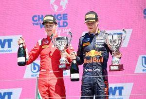 Race winner Dennis Hauger, Prema Racing, second place Olli Caldwell, Prema Racing