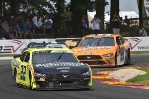 Austin Cindric, Team Penske, Ford Mustang Menards / Richmond, Kevin Harvick, B.J. McLeod Motorsports, Ford Mustang Henry Repeating Arms