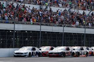 Chris Buescher, Roush Fenway Racing, Ford Mustang Acronis, Michael McDowell, Front Row Motorsports, Ford Mustang ARRMA