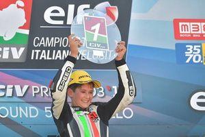 Podio Gara 2 125: il vincitore Filippo Bianchi, Rmu