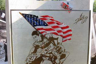 Erinnerung an Nicky Hayden an der Unfallstelle in Misano
