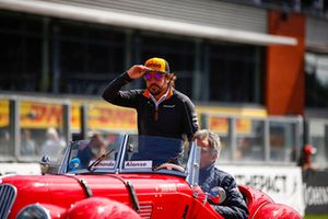 Fernando Alonso, McLaren, on the drivers' parade