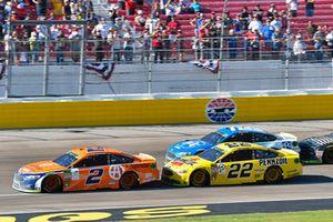 Brad Keselowski, Team Penske, Ford Fusion Autotrader and Joey Logano, Team Penske, Ford Fusion Shell Pennzoil