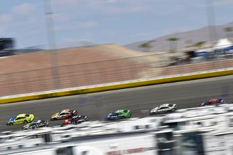 Paul Menard, Wood Brothers Racing, Ford Fusion Menards / Aquafina and Chase Elliott, Hendrick Motorsports, Chevrolet Camaro NAPA Auto Parts