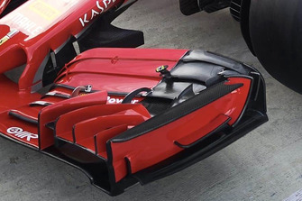 Ferrari SF71H detalle alerón frontal