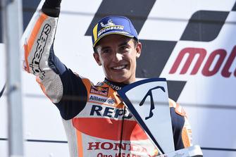 Podium : le deuxième Marc Marquez, Repsol Honda Team