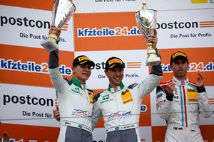 Podium: second place #20 Team Zakspeed BKK Mobil Oil Racing Mercedes-AMG GT3: Kim-Luis Schramm, Nicolai Sylvest