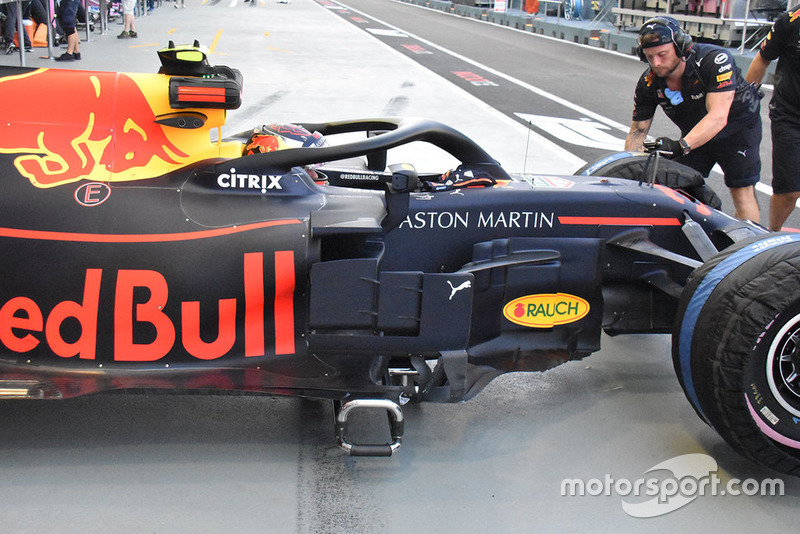 Red Bull side technical detail