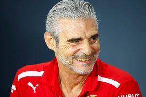 Maurizio Arrivabene, Team Principal, Ferrari, in the Friday press conference