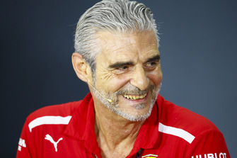 Maurizio Arrivabene, Team Principal, Ferrari, in the Friday press conference