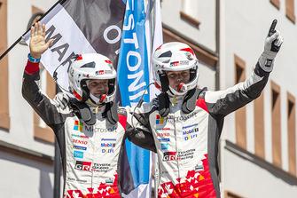 Yarış galibi Ott Tanak, Martin Järveoja, Toyota Yaris WRC, Toyota Gazoo Racing