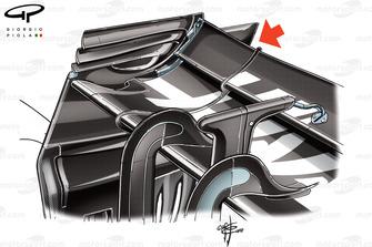 Haas VF-18 rear wing, Belgian GP