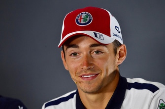 Charles Leclerc, Sauber F1 Team in the Press Conference