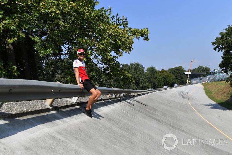 Marcus Ericsson, Alfa Romeo Sauber F1 Team on the Monza banking