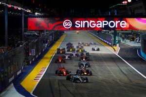 Lewis Hamilton, Mercedes AMG F1 W09 EQ Power+, Sebastian Vettel, Ferrari SF71H, Max Verstappen, Red Bull Racing RB14, Valtteri Bottas, Mercedes AMG F1 W09 EQ Power+, Kimi Raikkonen, Ferrari SF71H