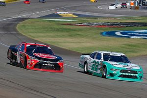 Austin Cindric, Team Penske, Ford Mustang and Ryan Preece, Joe Gibbs Racing, Toyota Camry Rheem