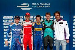 Nicolas Prost, Renault e.Dams; Bruno Senna, Mahindra Racing; Robin Frijns, Amlin Andretti Formula E