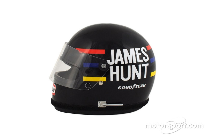Casque James Hunt à l'échelle 1:2