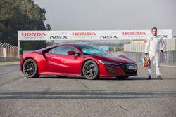 Test di Fernando Alonso con la Honda NSX