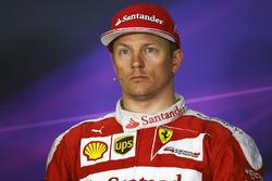 Kimi Räikkönen, Ferrari lors de la conférence de presse
