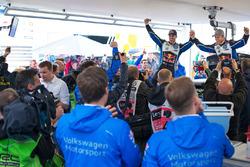 Переможці Андреас Міккельсен та Андерс Ягер, Volkswagen Polo WRC, Volkswagen Motorsport