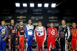 Chase Elliott, Hendrick Motorsports Chevrolet, Jimmie Johnson, Hendrick Motorsports Chevrolet, Austi