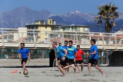 Timo Glock, Maxime Martin, Marco Wittmann, Antonio Felix da Costa and Bruno Spengler, Beach Soccer