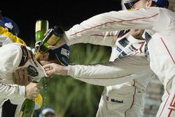GTLM podium: third place Michael Christensen, Earl Bamber, Frédéric Makowiecki, Porsche Team