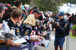Pierre Gasly, Red Bull Racing Test Driver signs autographs for the fans