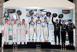 PC Podium: 1. Jon Bennett, Colin Braun, Mark Wilkins, CORE autosport; 2. Robert Alon, Tom Kimber-Smi