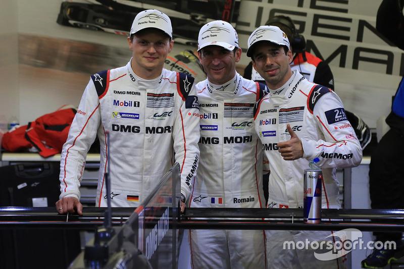 Ganadores de la pole #2 Porsche Team Porsche 919 Hybrid: Romain Dumas, Neel Jani, Marc Lieb