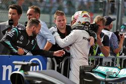 Lewis Hamilton, Mercedes AMG F1 celebrates his third position in parc ferme