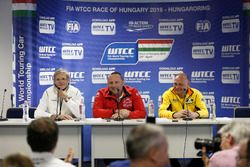 Alessandro Mariani, Team Principal Honda Team JAS; Yves Matton, Director of Citroen Racing; Viktor Shapovalov, Team manager Lada Sport Rosneft