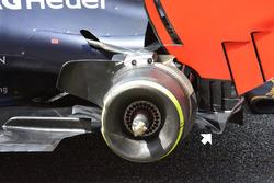 Détails de l'arrière de Red Bull Racing RB12