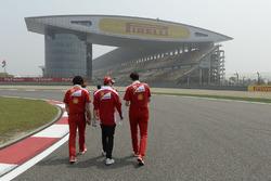 Sebastian Vettel, Ferrari lors de la reconnaissance du circuit