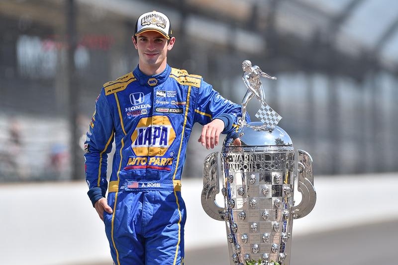 Le vainqueur Alexander Rossi, Herta - Andretti Autosport Honda