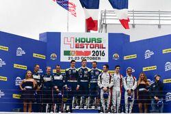 Podio LMP3: i vincitori della gara #18 M.Racing - YMR Ligier JSP3 - Nissan: Thomas Laurent, Yann Ehr