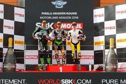 Podyum : Randy Krummenacher, Puccetti Racing Kawasaki, Kenan Sofuoglu, Puccetti Racing Kawasaki, Nic