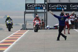 Intercambio de bicicletas de los equipos de Andrea Dovizioso, Ducati Team y Valentino Rossi, Yamaha