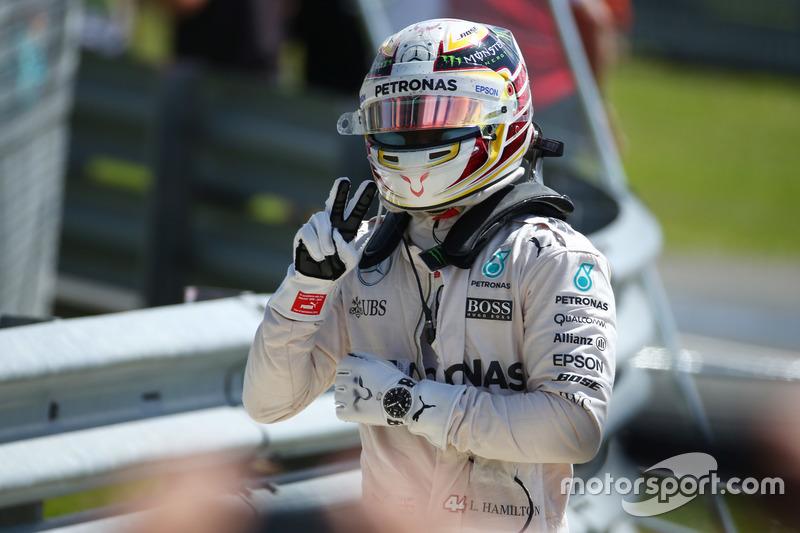 Ganador de la carrera Lewis Hamilton, Mercedes AMG F1 W07