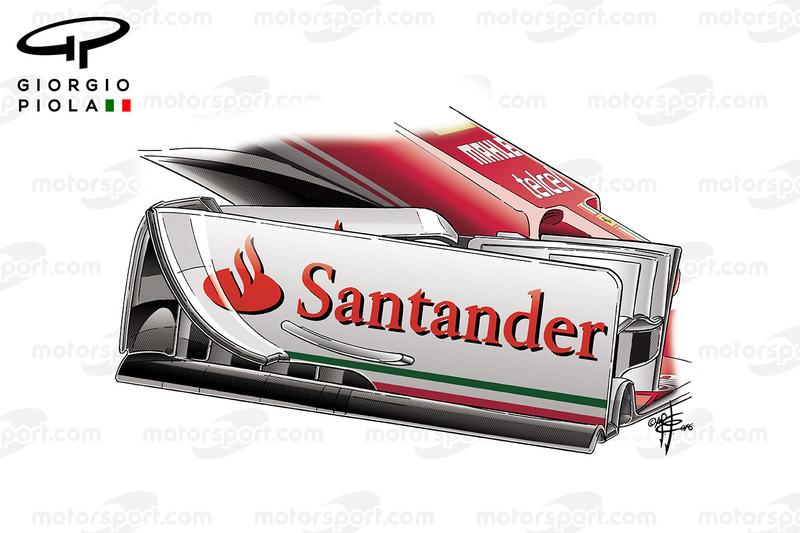 Ferrari SF16H front wing endplate, Silverstone GP