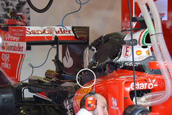 Ferrari SF16-H detalle trasero