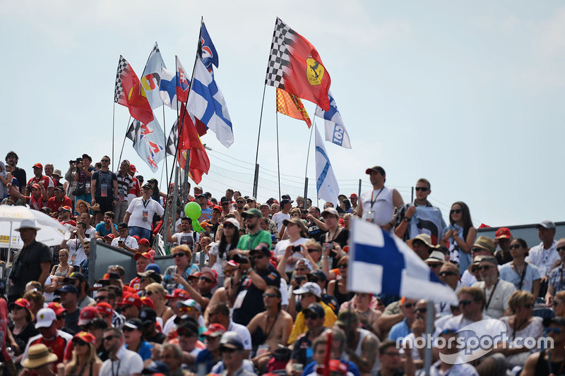 Finnish fans and flags