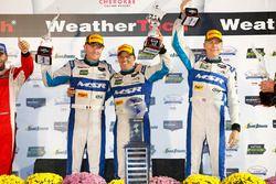 Race winners John Pew, Oswaldo Negri Jr., Olivier Pla, Michael Shank Racing