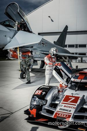 Geri Krähenbühl con Andre Lotterer, Audi Sport Team Joest