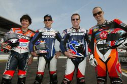 Nicky Hayden, Repsol Honda Team, John Hopkins, Team Suzuki, Kenny Roberts Jr., Team Suzuki, Colin Ed
