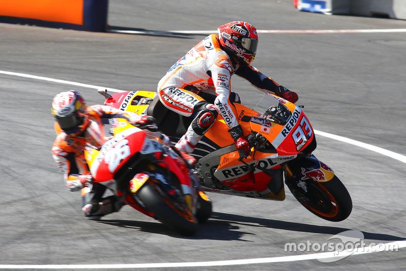 Lourde chute pour Márquez lors des EL3