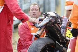 Bike of Cal Crutchlow, Team LCR Honda after his crash