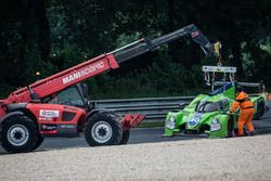 #40 Krohn Racing Ligier JS P2 Nissan: Tracy Krohn, Nic Jonsson, Joao Barbosa en la trampa de grava,