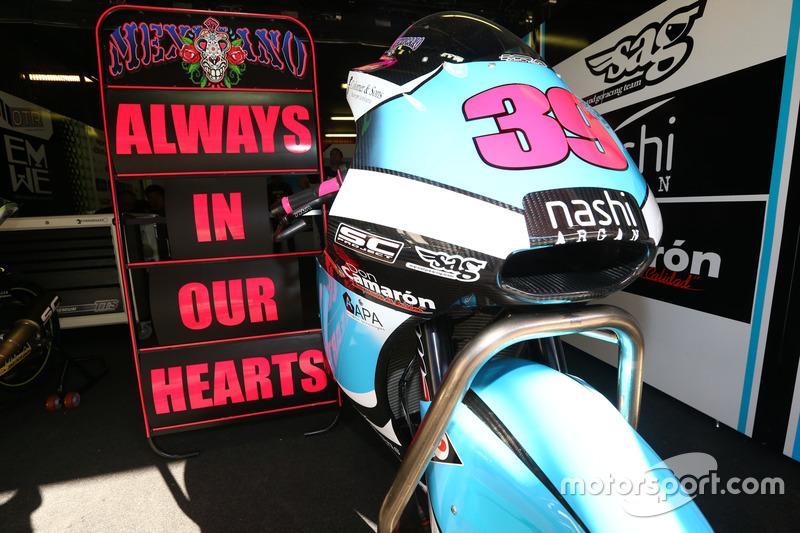 La moto de Luis Salom, SAG Racing Team
